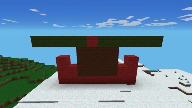 En segundo lugar, hacer una línea de 12 bloques de lana verde, pero colocar un rojo en el lugar correcto
