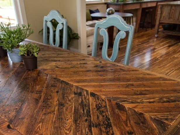 Fotografía - ¿Cómo construir una mesa de comedor con materiales recuperados