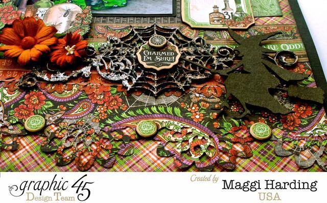 Primer creativos adornos frontera aglomerado tela de araña y la bruja.