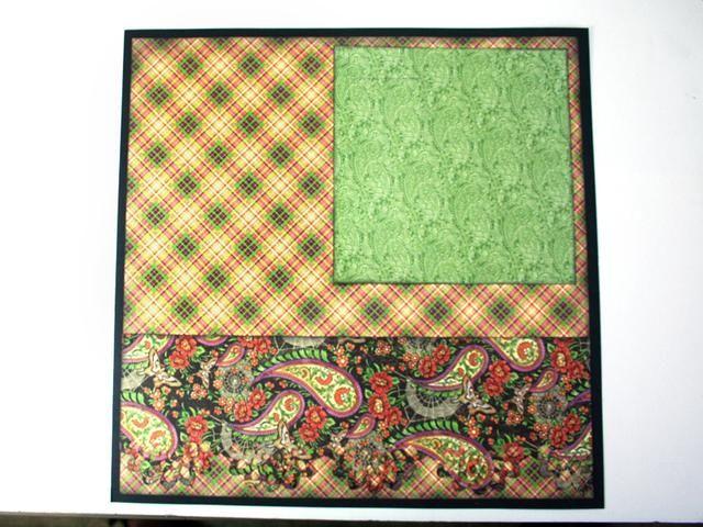 Tinta de los bordes de una impresión verde de 6 x 6