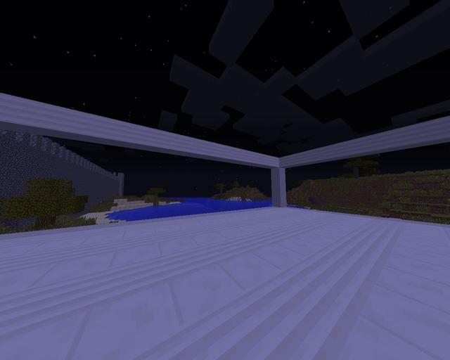 Construir los pilares cuartos por 4 bloques