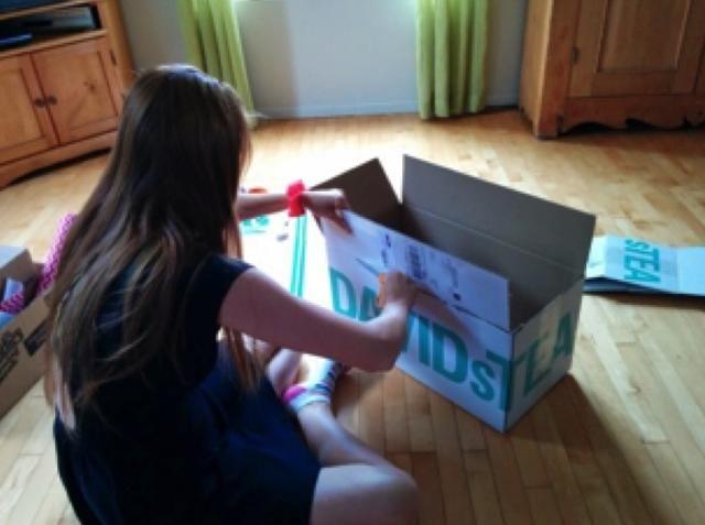 Cortar las aletas fuera de la caja y los puso a un lado para más adelante.