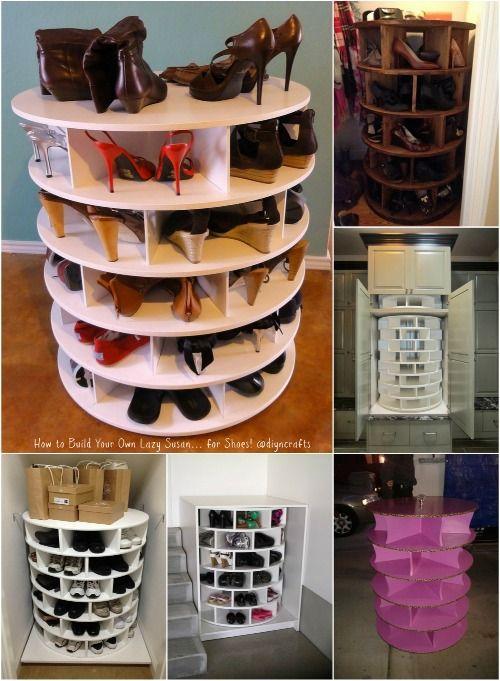 Cómo construir tu propio Lazy Susan ... para los zapatos!