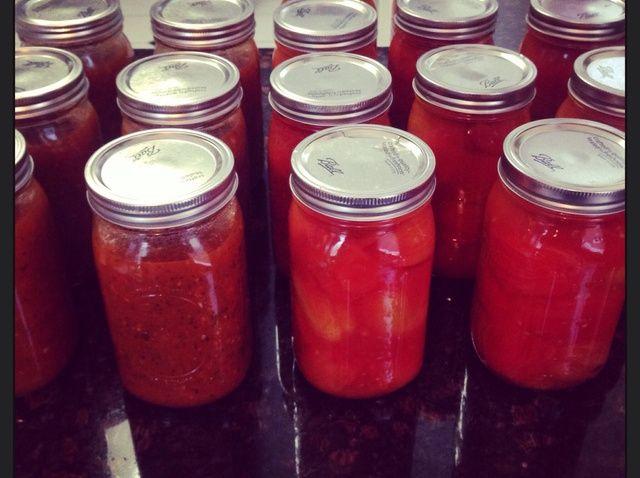 ¿Cómo se puede / jar Tomates Frescos Receta