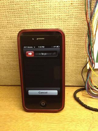 Presione el botón de encendido en la parte superior hasta que vea esta pantalla (~ 5 segundos) NO Apagar su teléfono.