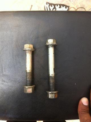 Vuelva a colocar las tuercas y guardar en lugar seguro, si es necesario limpiar con WD40 y aplique grasa.