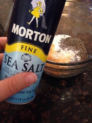 Sólo una pizca de sal de mar a la mezcla.