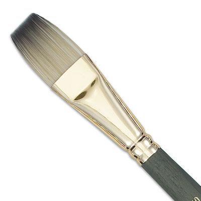 Brocha plana: Junto con el cepillo de la avellana, este es uno de los pilares de su flota cepillo. Grande para los bordes y rellenar áreas.