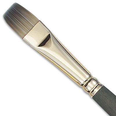 Brillante cepillo: Este cepillo es el mismo que un pincel plano, pero con cerdas más cortas para los detalles y diferente accionado por resorte.