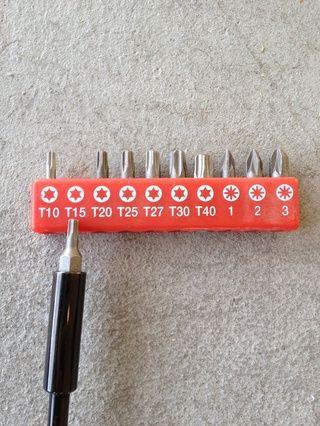 Para continuar debe armarse con una de estas herramientas locos. yo'm using a T15 top.