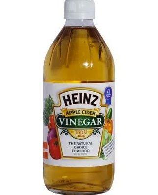 botella de vinagre de sidra de manzana Heinz