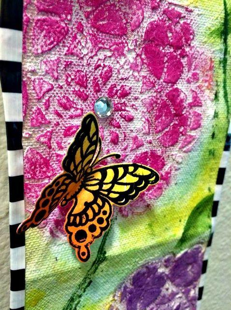 Cómo llenada color pared de la lona que cuelga por Monica Downing