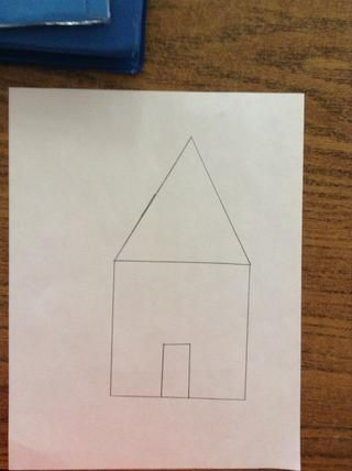 Étape 5.Dessine rectángulo de la ONU a la vertical. (4 cm de altivez y 2 cm de grande).