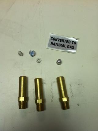 Aquí están las piezas que se incluyen en el kit de conversión