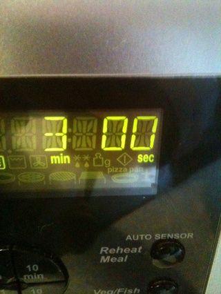 microondas durante 3 minutos :) :)