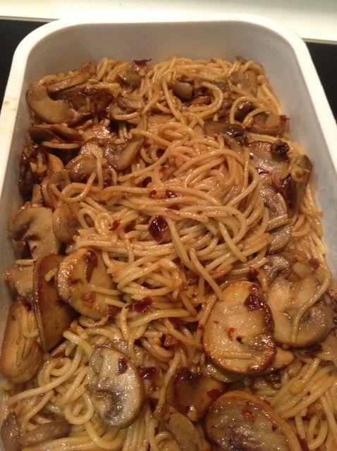 Cómo cocinar Aglio Olio seta spaghetti Receta
