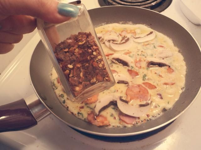 Si quieres, puedes espolvorear un poco de chile picado. Esto es opcional, pero me encanta el sabor añadido que aporta a la mezcla!