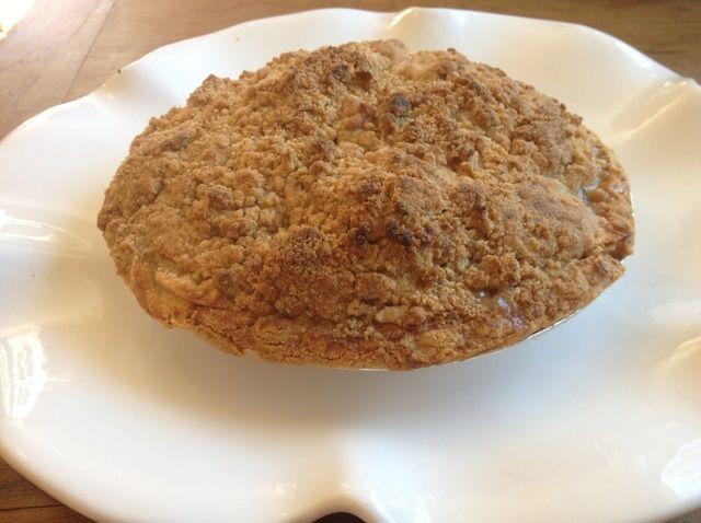 Cómo cocinar pastel de manzana con Crumb Topping Receta