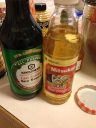 La soja y vinagre