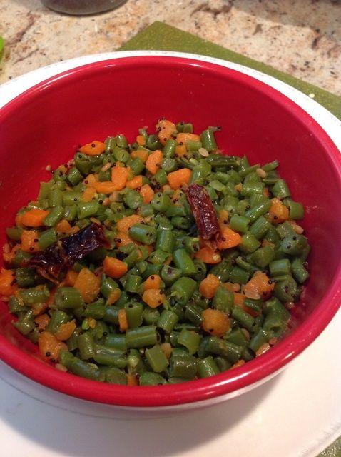 Cómo cocinar frijoles y zanahoria Palya (Plato Salteado) Receta