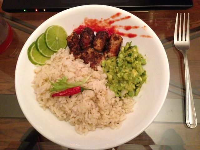 Esto es lo que debe ser similar al're done. I added sliced lime and a red pepper to make It look pretty. Enjoy!