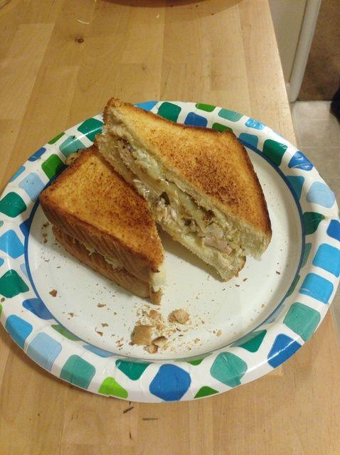 Cómo cocinar pan de ajo con queso sándwich de pollo Receta