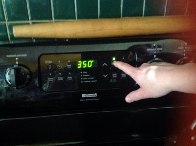 Precaliente el horno a 350 grados