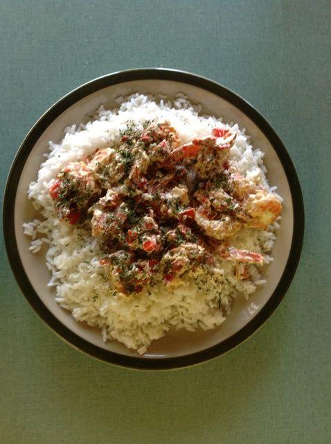Cómo cocinar cremoso Pesto-camarones y Receta de Arroz