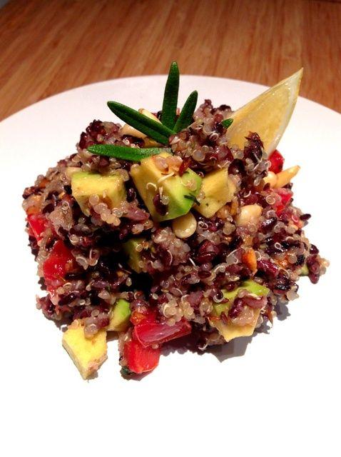 Cómo cocinar Comino-perfumado Negro Arroz y Quinoa Salad Recipe