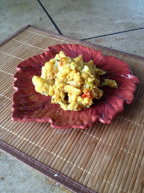 Cómo cocinar curry de patatas y coliflor Receta