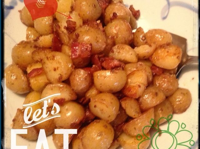 Cómo cocinar plato fácil Cara del tocino Patatas Receta