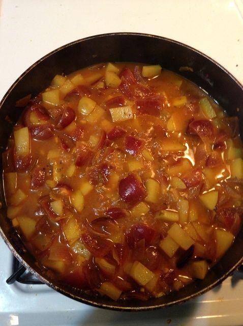 Cómo cocinar la cebolla curry indio patata Receta