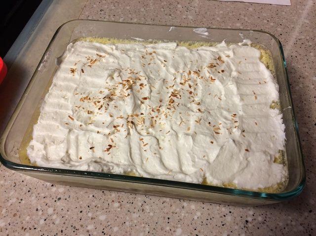 Cómo cocinar (Limón) Natillas Con El Coco torta dulce corteza Receta