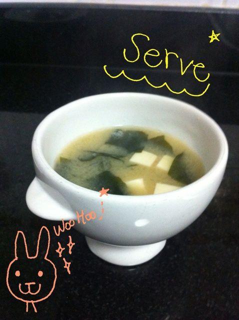 Cómo cocinar sopa de miso con tofu y wakame Receta