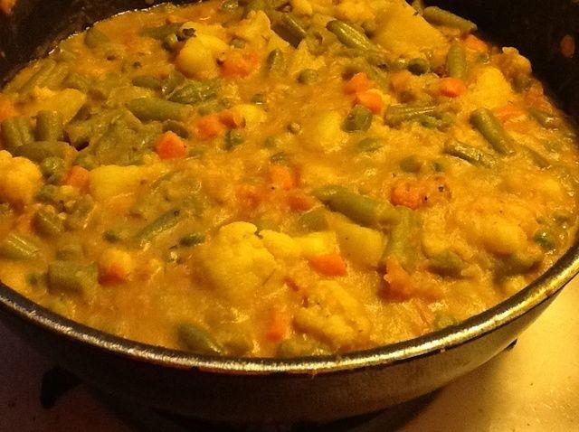 Cómo cocinar verduras mixtas estilo indio Receta