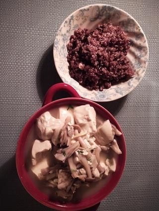 Voila! Emparejo la sopa con arroz integral. Saludable y delicioso!
