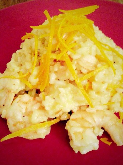 Cómo cocinar Naranja y gambas Risotto Receta