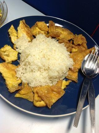 Colocar en el plato y servir con arroz.