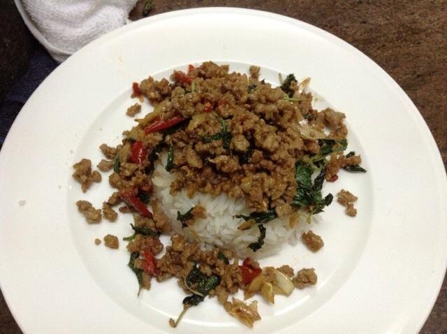 Después, servir con arroz blanco y usted're ready to go! Enjoy!