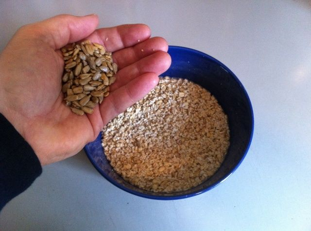 Añadir un puñado de semillas de girasol.