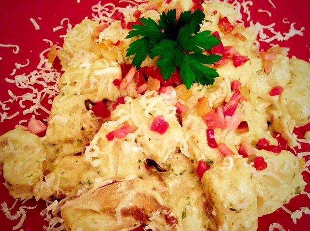 Cómo cocinar Porcini y Taleggio Crema Gnocchi W mota de polvo Receta