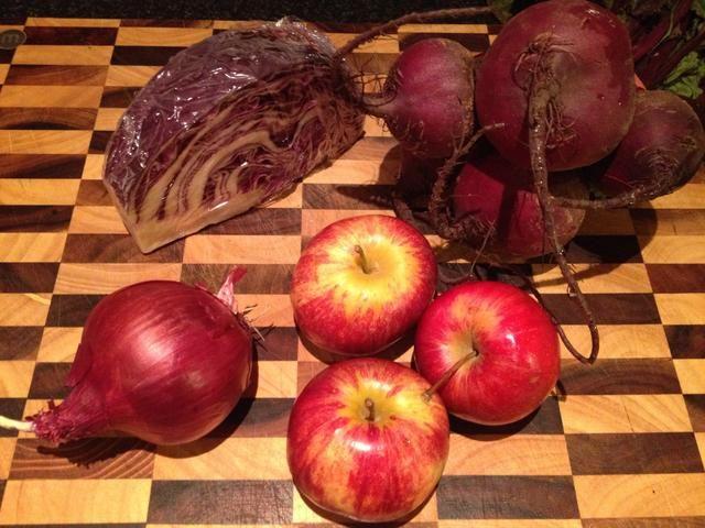 Obtenga su delicioso, verduras frescas de color rojo (y frutas)