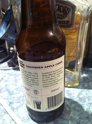 Utilice una sidra seca. Estoy utilizando una sidra de Barossa Valley Apple.
