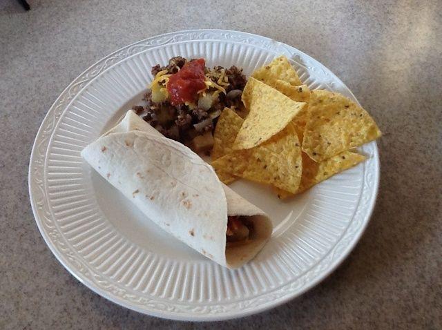 Cómo cocinar Tacos patata Receta