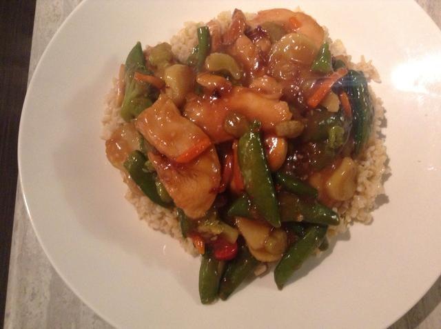 Sirva sobre arroz y disfrutar!
