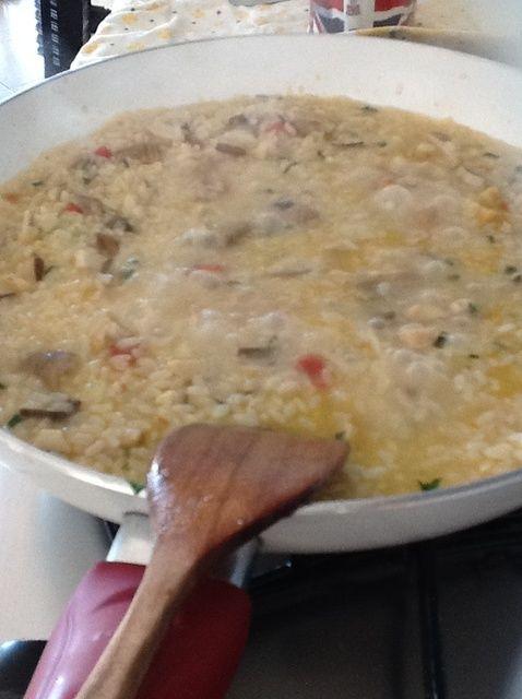 Cómo cocinar Risotto Con Receta Mushroom
