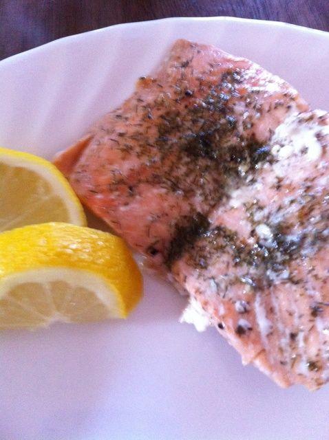 Cómo cocinar salmón en la receta de papel