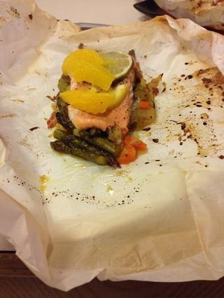 Servir en el papel, muy rústico y delicioso puedes preparar éstas antes de tiempo y hacer que una cena rápida! Disfrute y echa un vistazo a mi página de Facebook El amor de las creaciones culinarias gracias