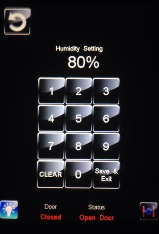 Ajuste el nivel de humedad de 80%