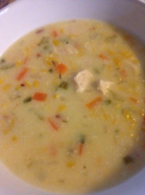 Cómo cocinar el sur de pollo maíz Chowder Receta